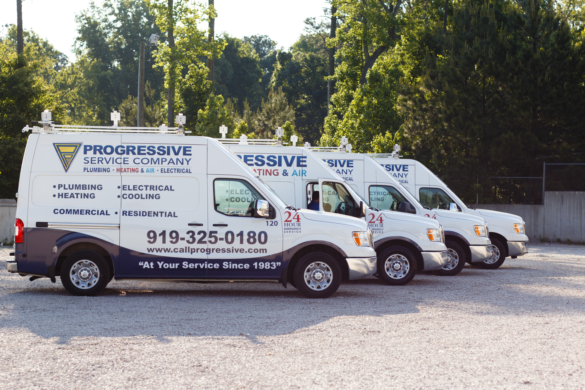 Progressive Service Company Vehicles